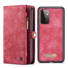 CaseMe 2in1 lompakko 11 card Galaxy A72/A72 5G red