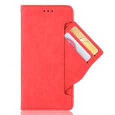 LN 5card flip wallet Galaxy A22 5G red