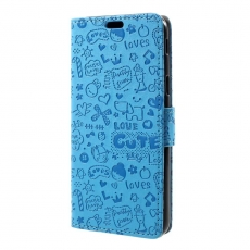 Luurinetti Galaxy J5 2017 graffitti kotelo blue