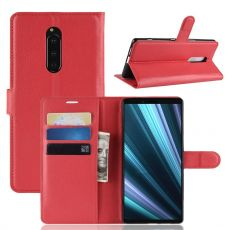 Luurinetti Flip Wallet Sony Xperia 1 red