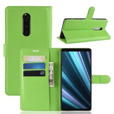 Luurinetti Flip Wallet Sony Xperia 1 green