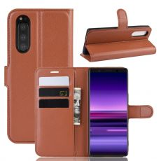 Luurinetti Flip Wallet Sony Xperia 5 brown