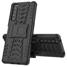 LN kuori tuella Sony Xperia 1 II black