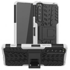 LN kuori tuella Sony Xperia 1 II white