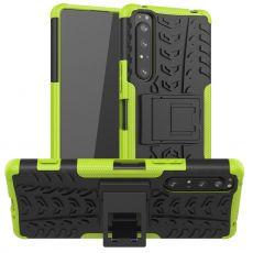 LN kuori tuella Sony Xperia 1 II green