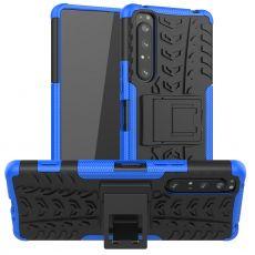 LN kuori tuella Sony Xperia 1 II blue