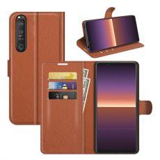 LN Flip Wallet Xperia 1 III brown
