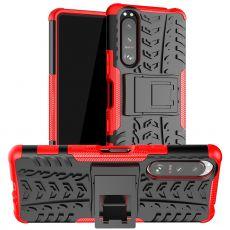LN suojakuori tuella Sony Xperia 5 III red