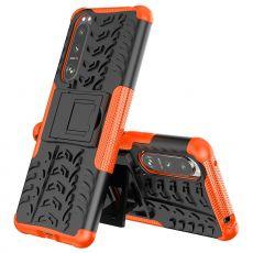 LN suojakuori tuella Sony Xperia 5 III orange