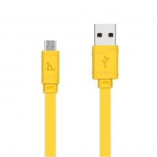 Hoco lataava microUSB-datakaapeli yellow
