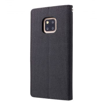Goospery Canvas Wallet Mate 20 Pro black