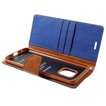 Goospery Canvas Wallet Mate 20 Pro blue