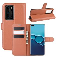 LN Flip Wallet Huawei P40 brown