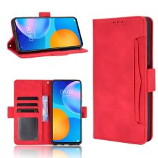 LN 5card Flip Wallet Huawei P Smart 2021 Red