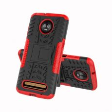 Luurinetti kuori tuella Moto Z3/Z3 Play red