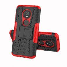Luurinetti suojakuori tuella Moto E5 red