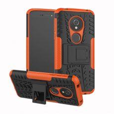 Luurinetti suojakuori tuella Moto E5 orange