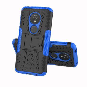Luurinetti suojakuori tuella Moto E5 blue