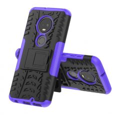 Luurinetti kuori tuella Moto G7/G7 Plus purple