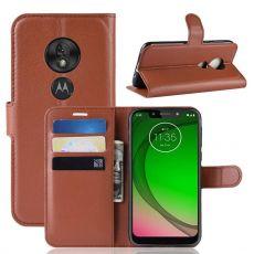 Luurinetti Flip Wallet Moto G7 Play brown