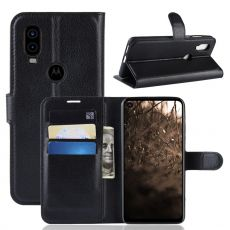 LN Flip Wallet Motorola One Vision Black