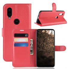 LN Flip Wallet Motorola One Vision Red