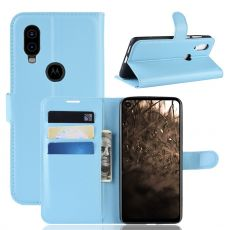 LN Flip Wallet Motorola One Vision Blue