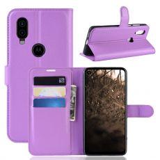 LN Flip Wallet Motorola One Vision Purple