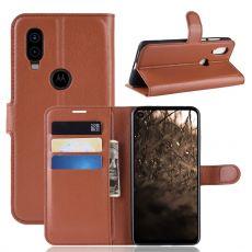 LN Flip Wallet Motorola One Vision Brown