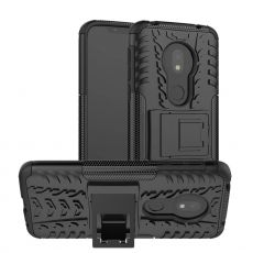 LN suojakuori tuella Motorola Moto G7 Play Black