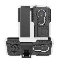 LN suojakuori tuella Motorola Moto G7 Play White