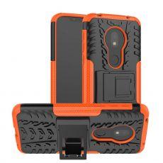 LN suojakuori tuella Motorola Moto G7 Play Orange