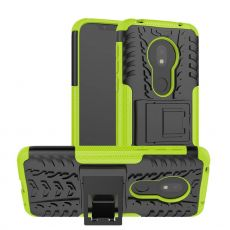 LN suojakuori tuella Motorola Moto G7 Play Green