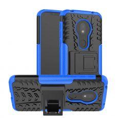 LN suojakuori tuella Motorola Moto G7 Play Blue