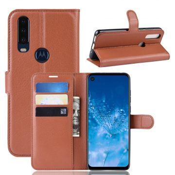 LN Flip Wallet Motorola One Action brown