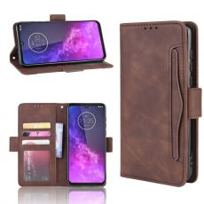 LN Flip Wallet Motorola One Zoom brown