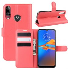 LN Flip Wallet Moto E6 Plus red