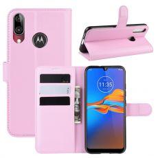 LN Flip Wallet Moto E6 Plus pink