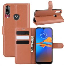 LN Flip Wallet Moto E6 Plus brown