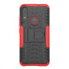 LN kuori tuella Moto E6 Plus red