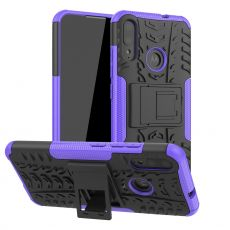 LN kuori tuella Moto E6 Plus purple