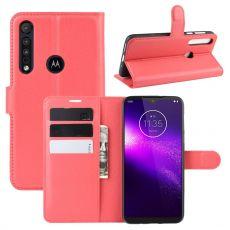 LN Flip Wallet Motorola One Macro red