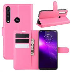 LN Flip Wallet Motorola One Macro rose