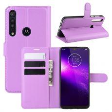 LN Flip Wallet Motorola One Macro purple
