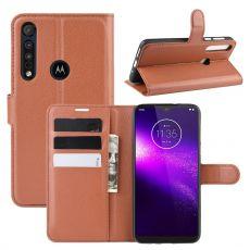 LN Flip Wallet Motorola One Macro brown
