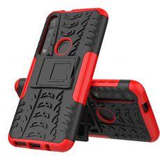 LN suojakuori tuella Moto G8 Plus red