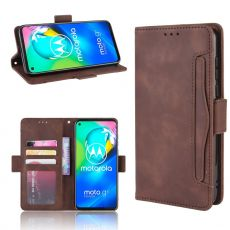 LN 5card Flip Wallet Moto G8 Brown