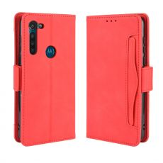 LN 5card Flip Wallet Moto G8 Red