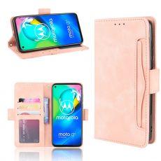 LN 5card Flip Wallet Moto G8 Pink