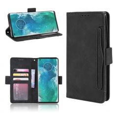 LN 5card Flip Wallet Motorola Edge+ Black